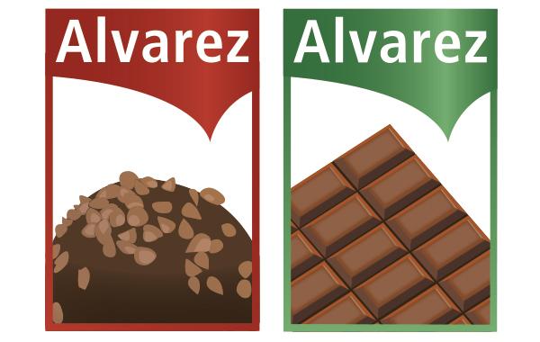 Labelentwurf Schokolade