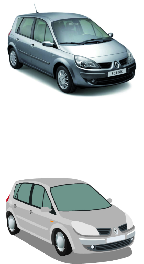 Renault Scenic Vektorisiert
