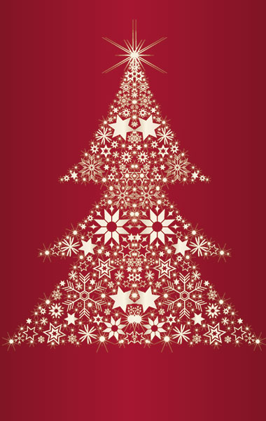 Weihnachtskarte Baum (selbst zusammengesetzt)
