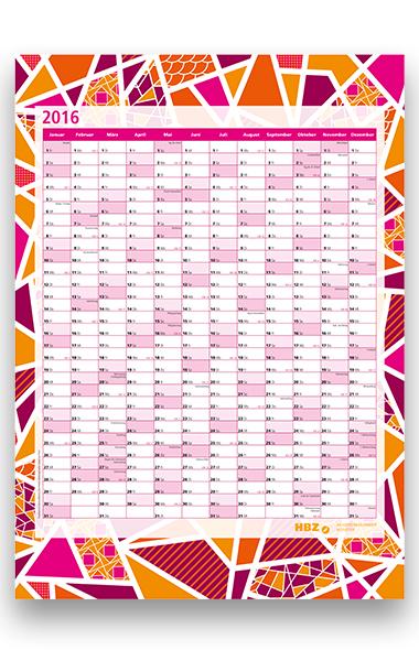 Wandkalender 2016 DIN A2